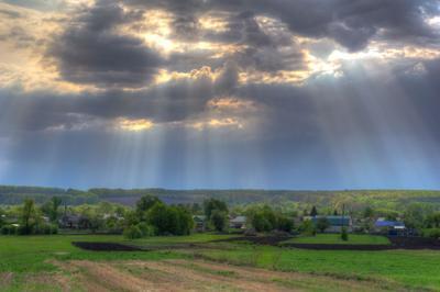 После дождя Дождь пейзаж тучи небо