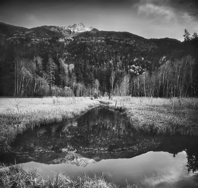 домбай, отражение