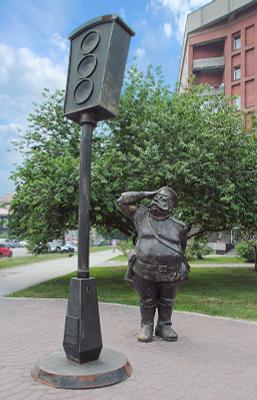 Памятник светофору Памятник светофору Новосибирск