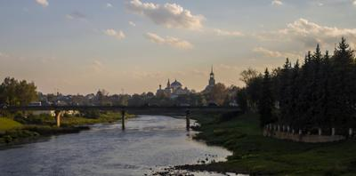 Вечерний Торжок... Вид на кремль