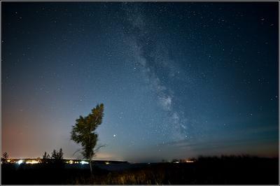 млечное небо млечный путь звезды осень остров Хреновый Обское море Новосибирск Стыврин Андрей