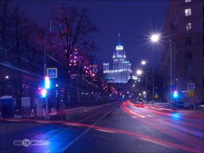Найди проехавший трамвай... ночь штатив выдержка город фиоллентоваяночнушка