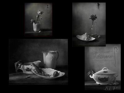 По волне моей памяти(из архива)..Поиски выхода.. натюрморт панно архив чб фото посуда