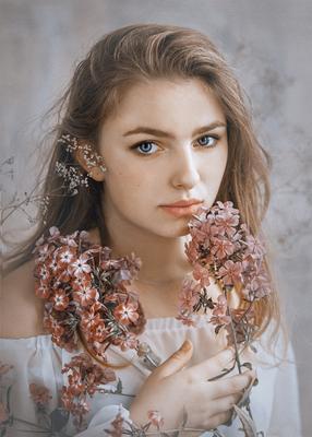 Эля портрет девушка арт фотосъёмка фото девушек фотограф Роман Сергеев фото-сессия Гламур