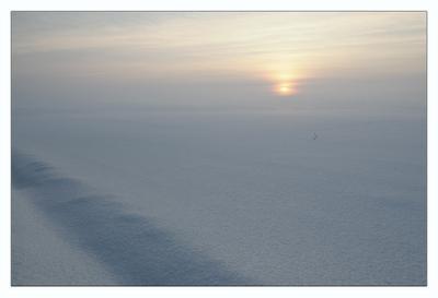 Зима зима вечер поле снег солнце