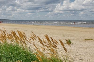 Свежий ветер Море берег небо облака ветер