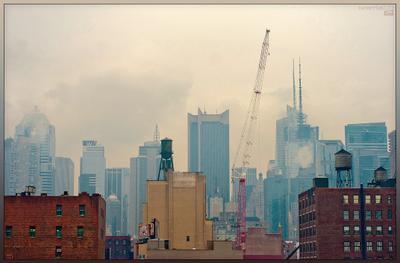 Разноэтажная Америка Нью Йорк Манхэттен