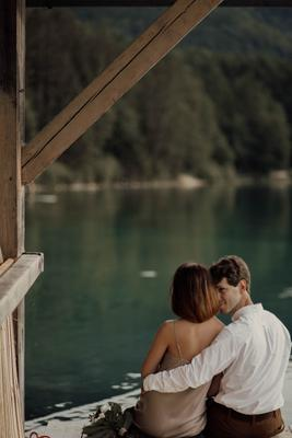 Alpsee озеро пара свадьба фотопрогулка германия фотограф