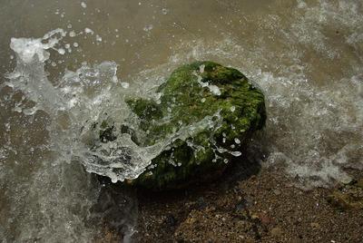 прибой море брызги