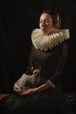 Дама с кошкой портрет ренессанс сфинкс кот