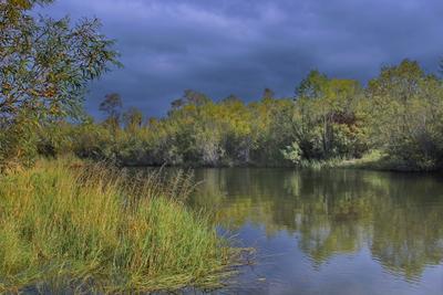 Пасмурный день река целота ангарск