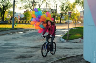 Не взлетит :) велосипед дреды воздушные шарики