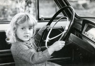 Портрет за рулём дети портрет