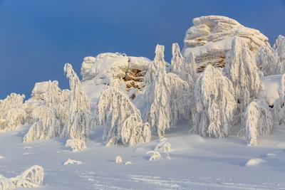 Поклоны матушке зиме*** снег горы деревья