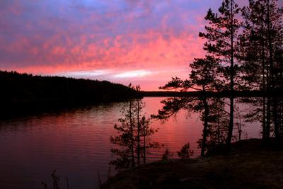 Закат на границе с Финляндией. г. Каменногорск,Выборгский район