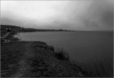 Туманный день на Бугском берегу (черно-белый вариант)