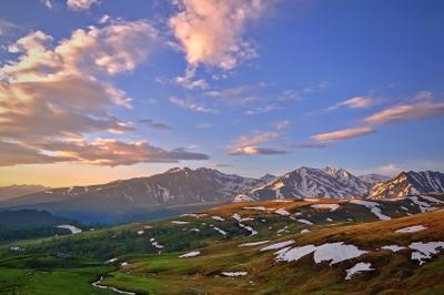 Утро в горах Кавказ горы утро Архыз