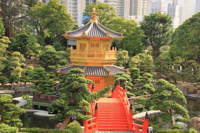 In the garden... hongkong garden