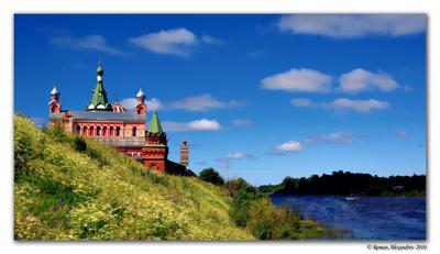 Старая Ладога Ладога, церковь, река, волхов, вода, небо