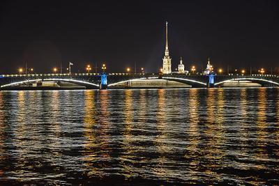 night snapshot Peter, Paul, Fortress, Petersburg, cathidral, citadel