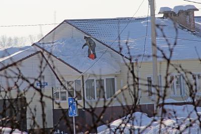 После снегопада Сибирь зима снег