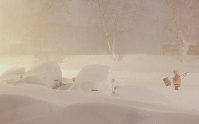 Утро снег циклон метель