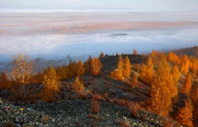 Золотой Карабаш II карабаш южный урал осень туман