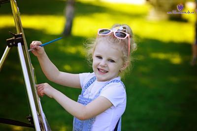 Художница девочка портрет художница мольберт