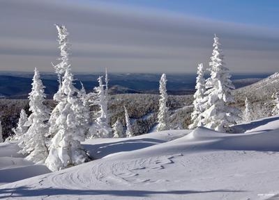 * В ней есть душа, в ней есть свобода * сибирь горная шория шерегеш горы зима снег