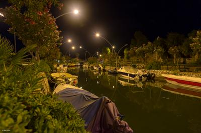 Вечерний Ичмелер турция ичмелер канал река посёлок путешествие пейзаж лето отпуск горы вода вечер огни