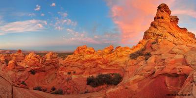 South Coyote Buttes после заката South Coyote Buttes, Arizona, sunset, high desert, rocks, sandstone