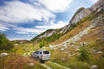"""Свой собственный """"Крым"""" воронеж, сторожевое, склоны, горы, мел, дорога, путешествие, камни, машина, авто"""