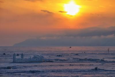 Байкал - Ледяной замок Байкал закат лед замок