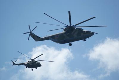 С парада домой авиация вертолёт Ми-26 Ми-8
