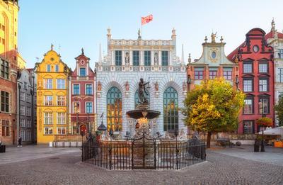 Веселые польские маляры и осень Польша