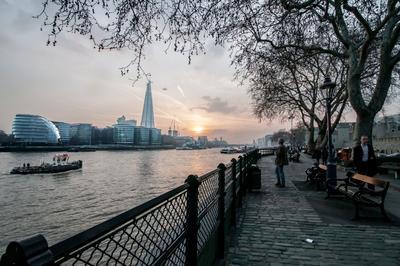 Глядя на закат... Лондон Темза закат