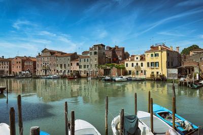 У парковки... Венеция канал лодка небо облака