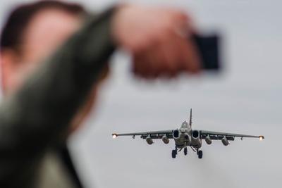 Селфи авиабаза Кубинка Су-25