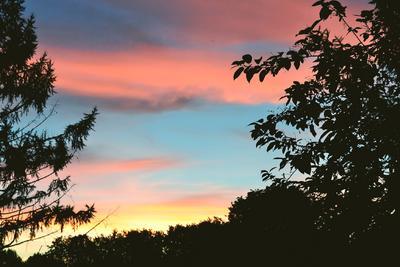 Разноцветный закат закат природа