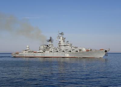 Ордена Нахимова Гвардейский Ракетный Крейсер Москва ВМФ корабль флот море пейзаж