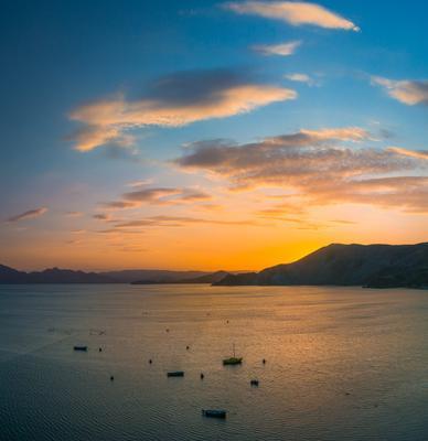 В бухтах Коктебельского залива угасает день Крым закат 2019 бухта Провато Тихая