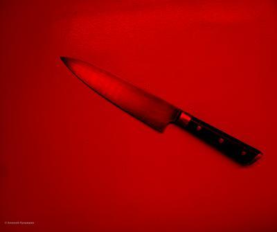 Красное пространство Красный цвет нож негатив
