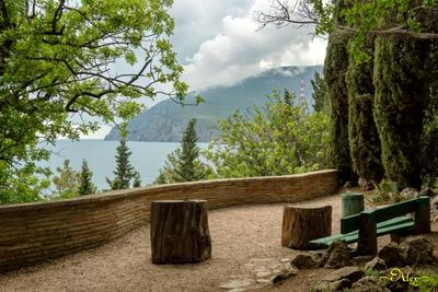 Красивое место для отдыха Крым природа Чёрное море лето Аю-Даг Медведь-Гора