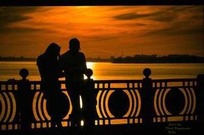 ***Вечер на набережной Северной Двины река закаты Север