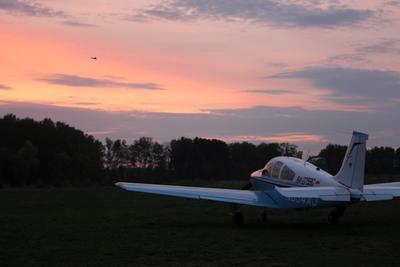 Аэродром Шевлино. После полётов Аэродром Шевлино полёты закончены закат
