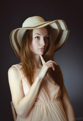 Catherine. 2016 катя девушка в шляпе портрет skydali