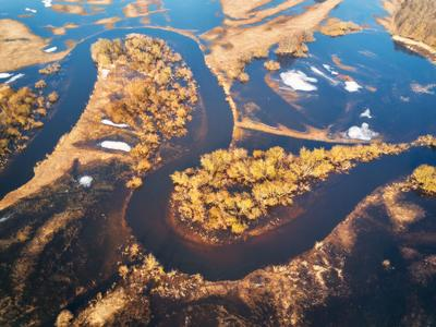 Разлив на Немане Беларусь Весна Март Неман Разлив Река Утро