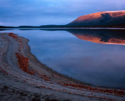 Закат на Пайкуньявре Хибины, Гольцовое, Пайкуньявр, октябрь