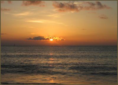 Закат Вечер, закат, море