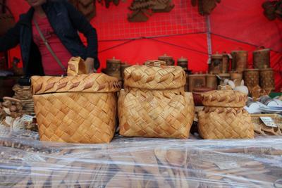 Плетение из бересты. короба береста плетение техно предметы технологии ярмарка репортаж